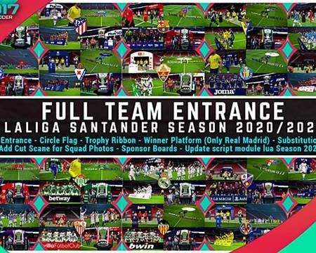 PES 2017 Full Team Entrance LaLiga Santander 2020/21