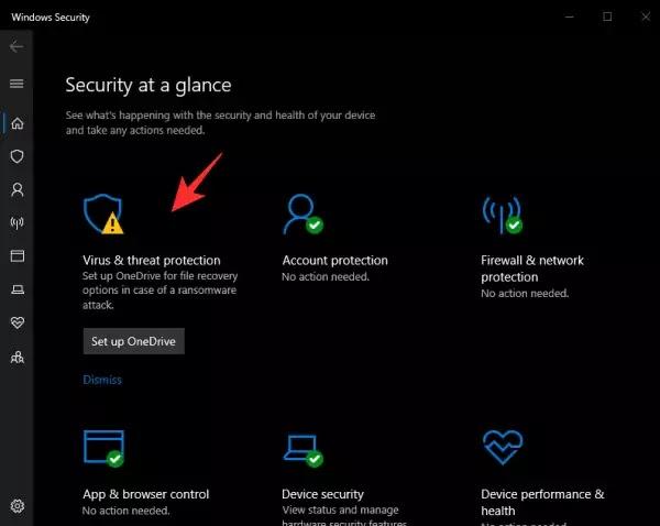 الحماية من الفيروسات windows