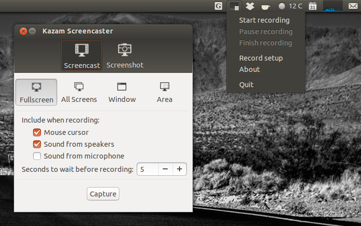 Kazam Screencaster 1.3.2 Gets New UI, Screenshots Support ~ Web ...