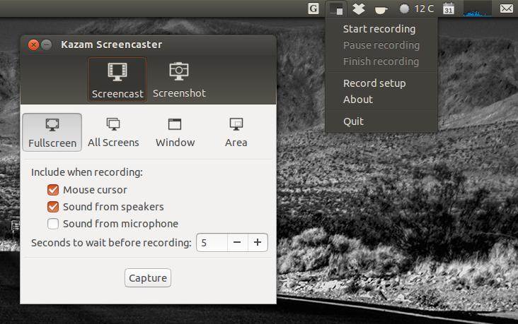 Kazam Screencaster 1.3.2 Gets New UI, Screenshots Support ~ Web ...