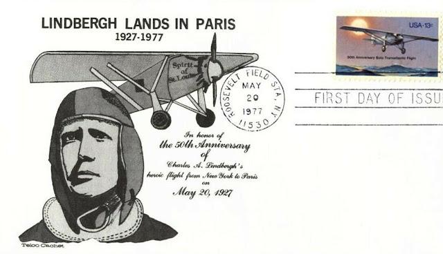 USA Lindbergh's transatlantic flight FDC