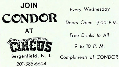 Condor pass for The Circus rock club