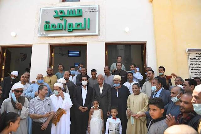 نائب محافظ قنا يشهد افتتاح مسجد الصوامعة بنجع حمادي