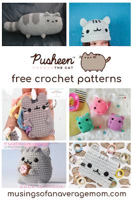 Free Pusheen the cat crochet patterns