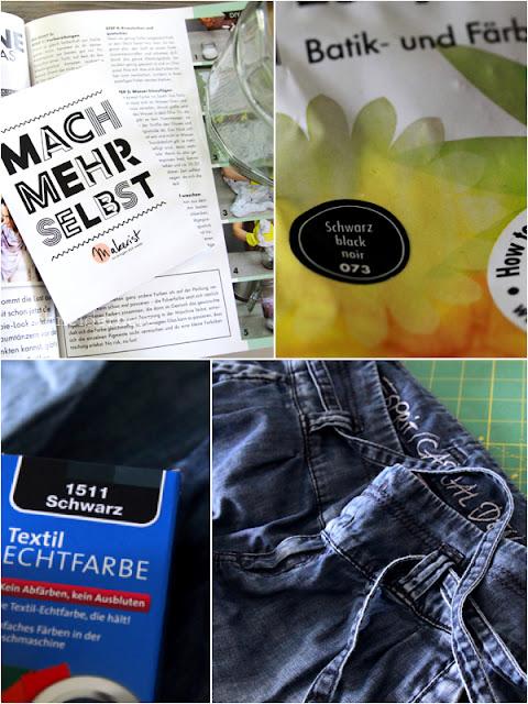 Material Batik Färben in der Waschmaschine diy