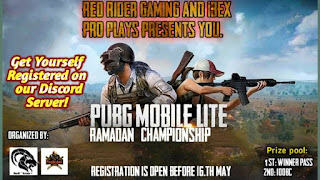 RAMADAN CHAMPINSHIP PUBG MOBILE LITE TOURNAMENT QUALIFIE MATCH      17 May, 2020