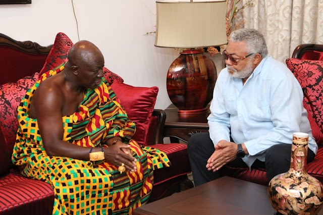 """Fare thee well"" - Asantehene pays tribute to JJ Rawlings"