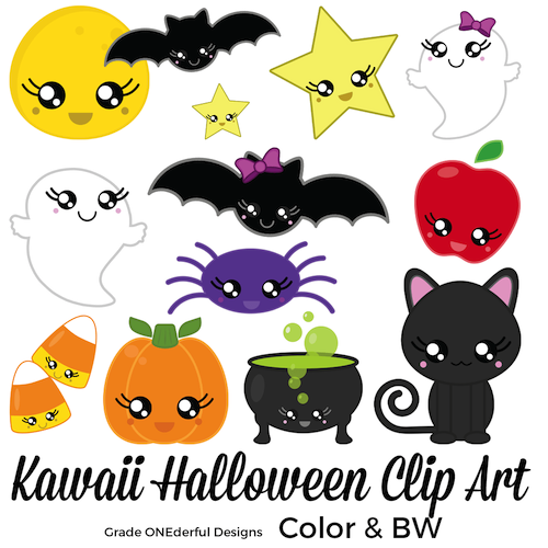 Kawaii Halloween clip art