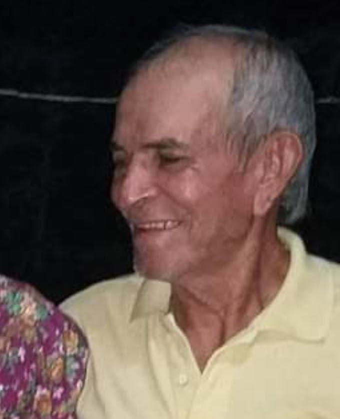 Nota de falecimento e convite para sepultamento de Seu Chiquinho do Leite, ex-vereador de Grossos
