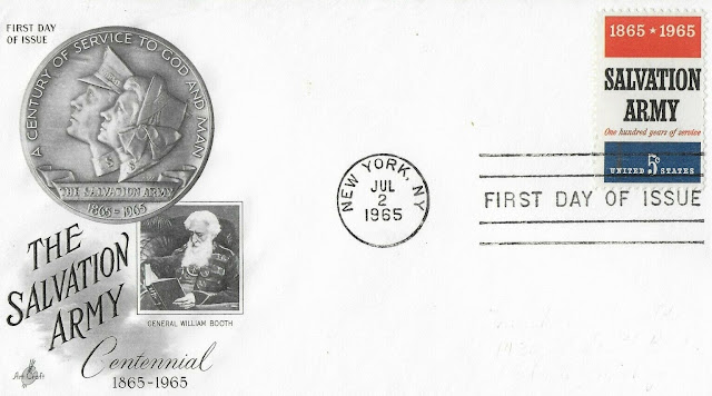 The Salvation Army First Day Issue FDC US 1965 5 Cents General William Booth