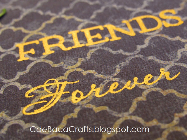 Handmade Friendship Cards by CdeBaca Crafts Blog.
