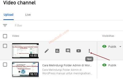Masuk Dashboard chanel youtube
