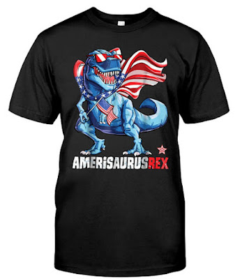 Dinosaur 4th of July 2018 T Shirt