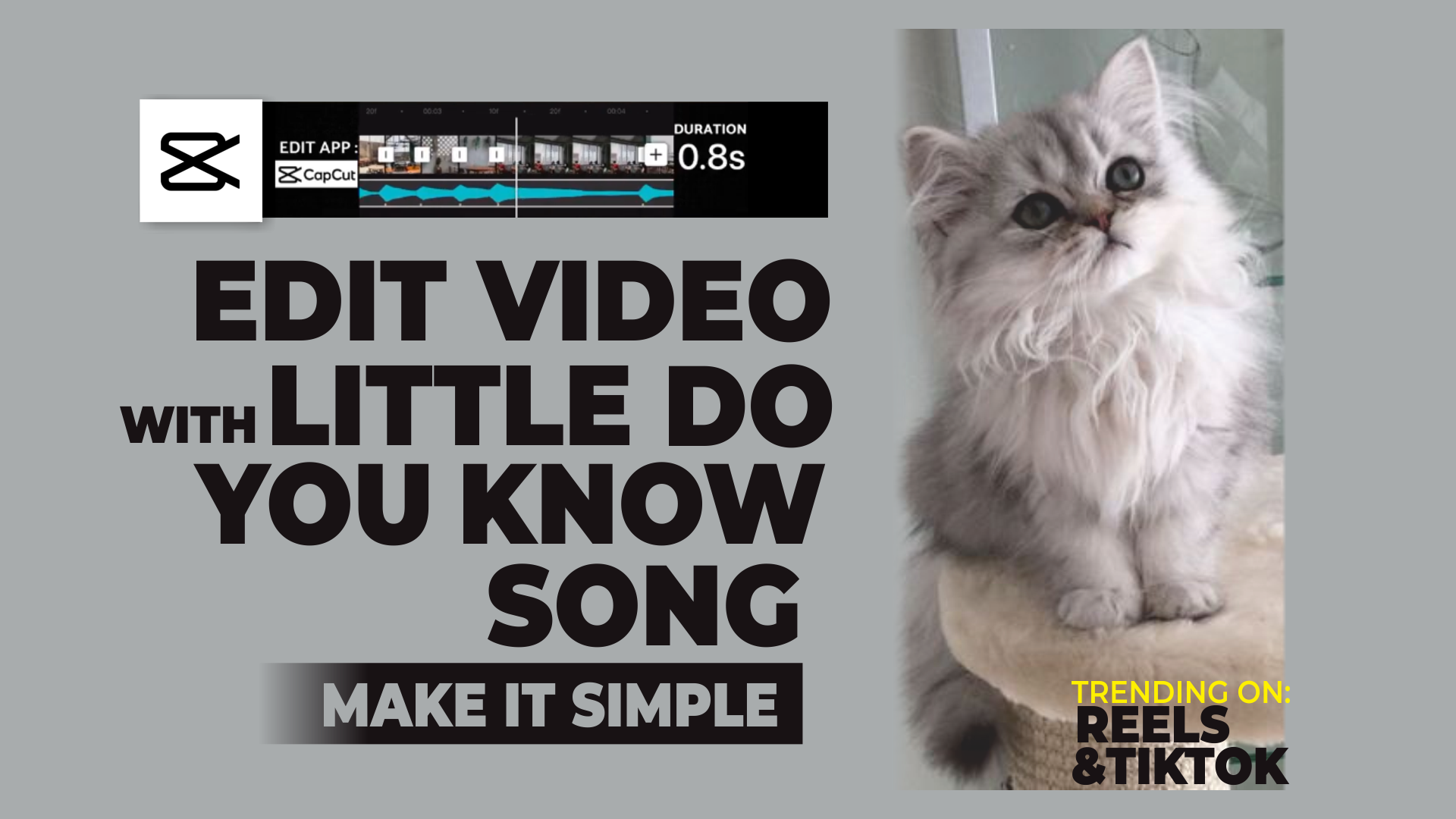 how to make little do you know reel