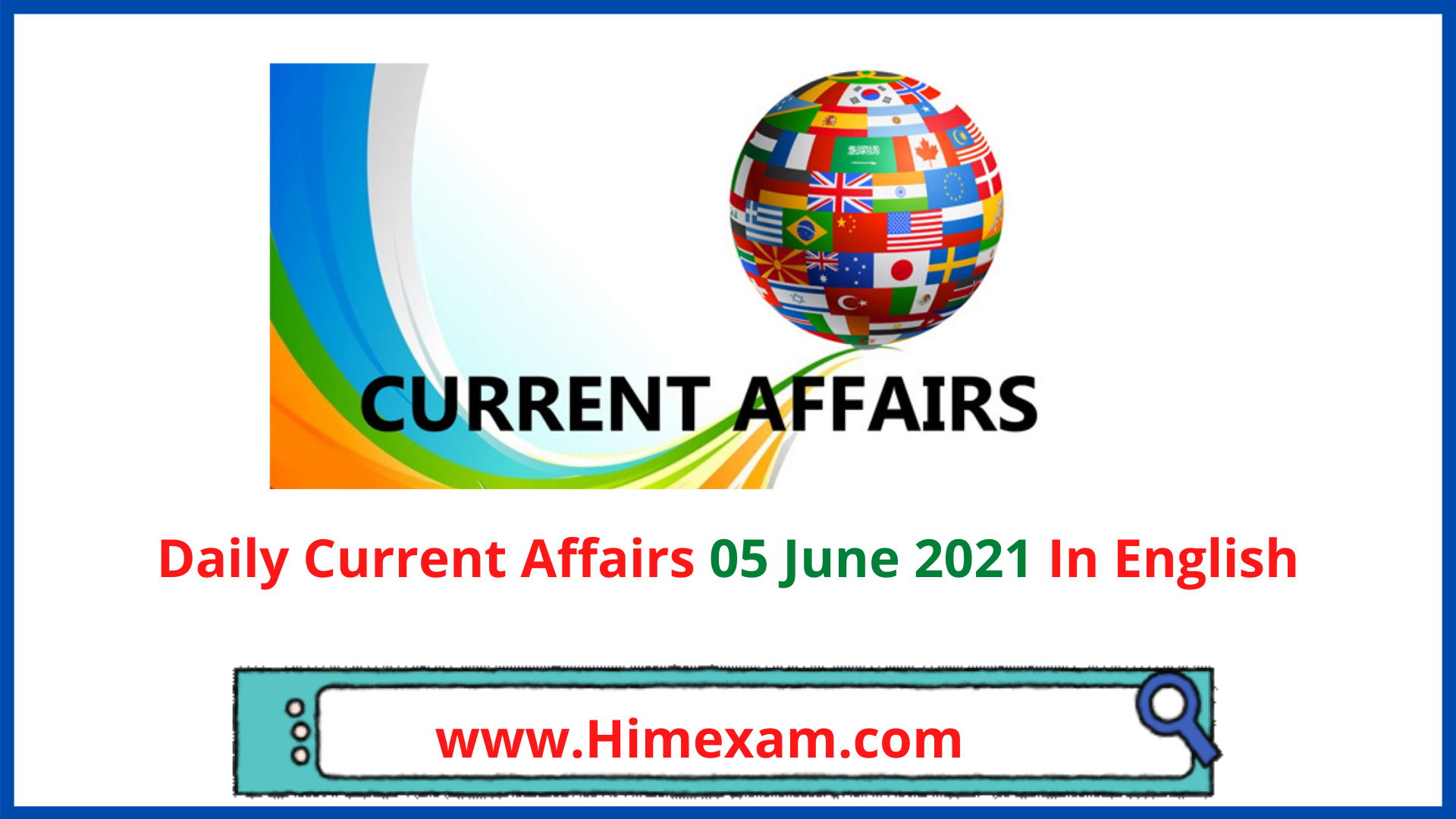 Daily Current Affairs 05 June 2021 In English