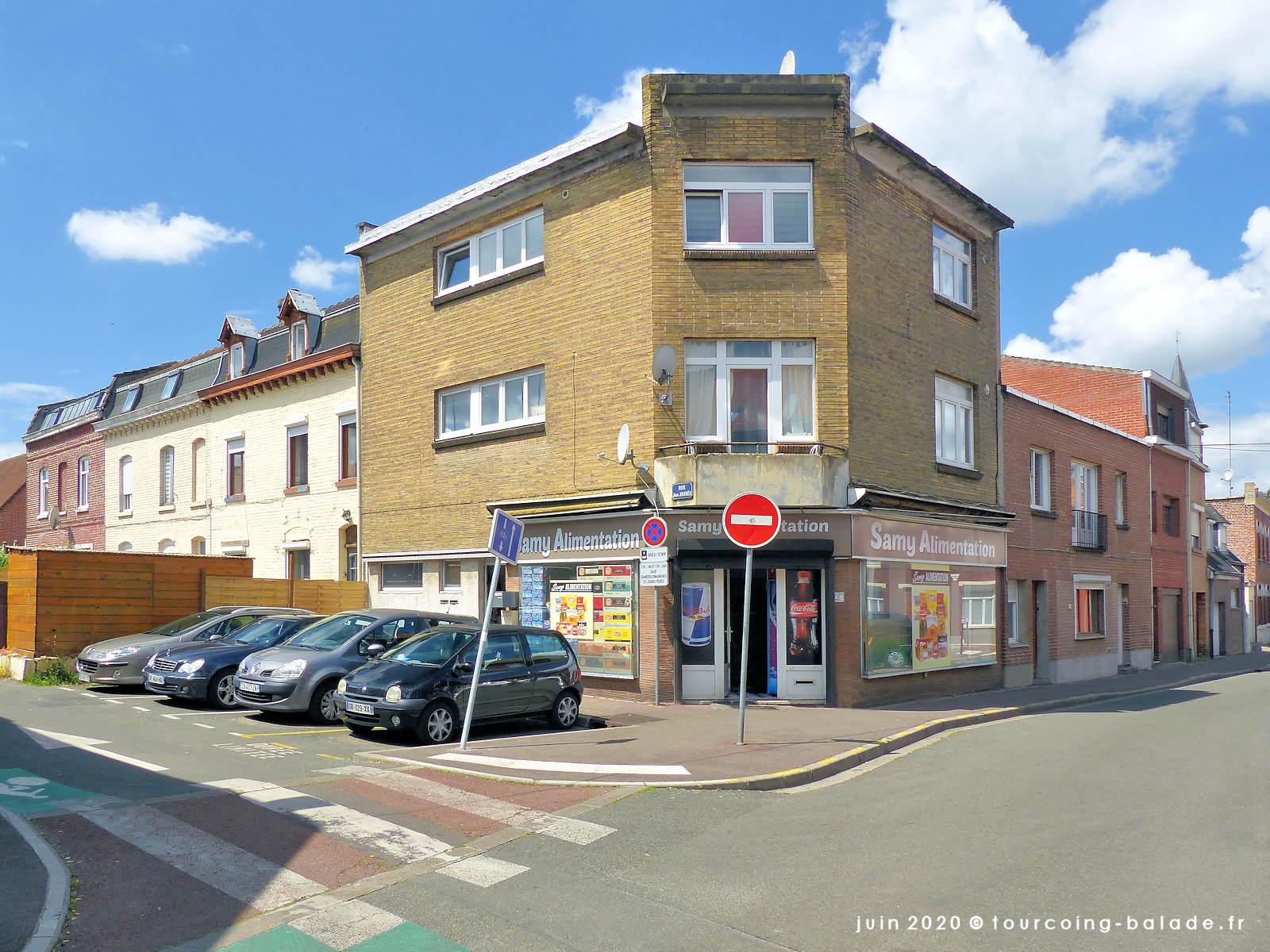 Angle rue Jean Jaurès et Rue de Roncq, Tourcoing, 2020
