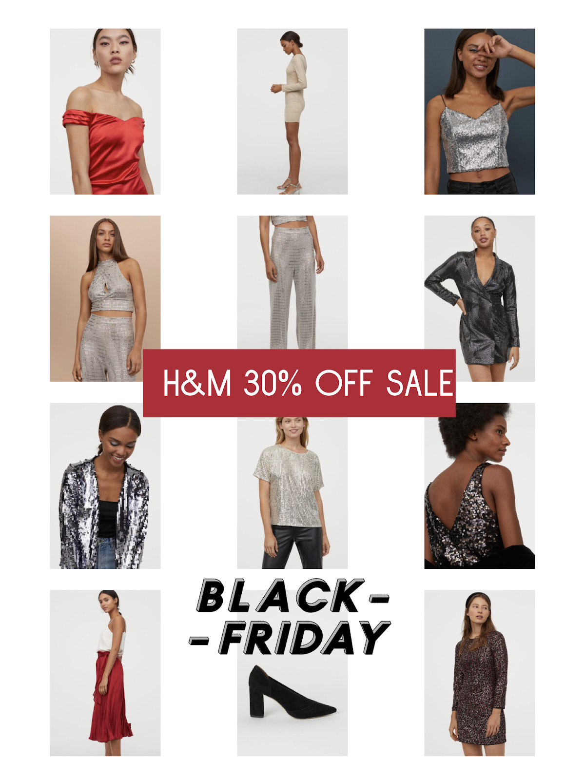 Black Friday Sales and Cyber Monday Deals 2019 | H&M Cyber Monday Sales | Holiday Dresses, Holiday Shoes, Sequin Dresses, Holiday Sequined Dresses