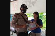 Cegah Penyebaran Covid-19, Polsek Kuala Behe Imbau Warga Diharuskan Pakai Masker Hendak Keluar Rumah