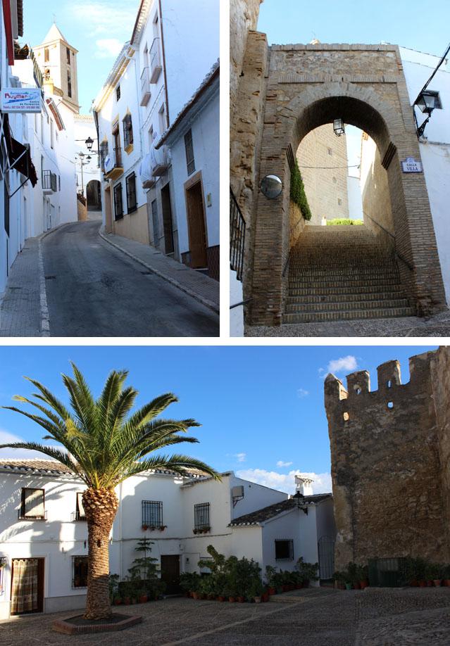 Subida al castillo de Iznájar