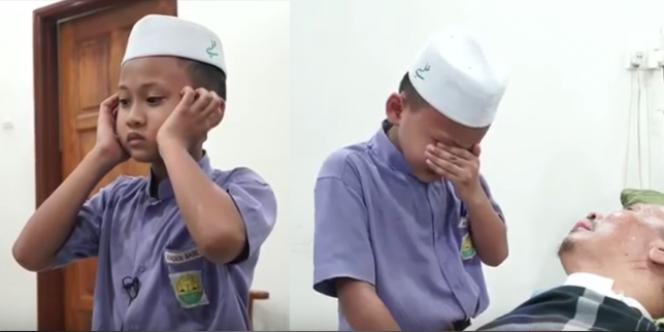 Tangis Haru! Seorang Anak Kumandangkan Adzan Demi Kesembuhan Sang Ayah