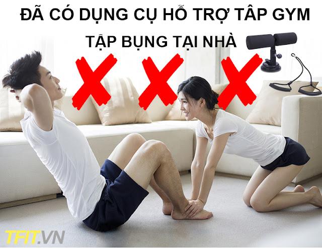Dụng cụ tập bụng tại nhà hiệu quả