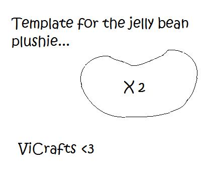 Jelly Bean Plushie Template