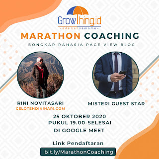 Marathon coaching  membongkar rahasia pageview atau traffic blog