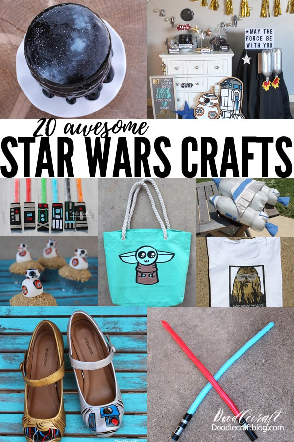 Here's 20 awesome crafts and diy's that all revolve around Star Wars. Craft the greatest projects in a galaxy far, far away--great for handmade gifts too!