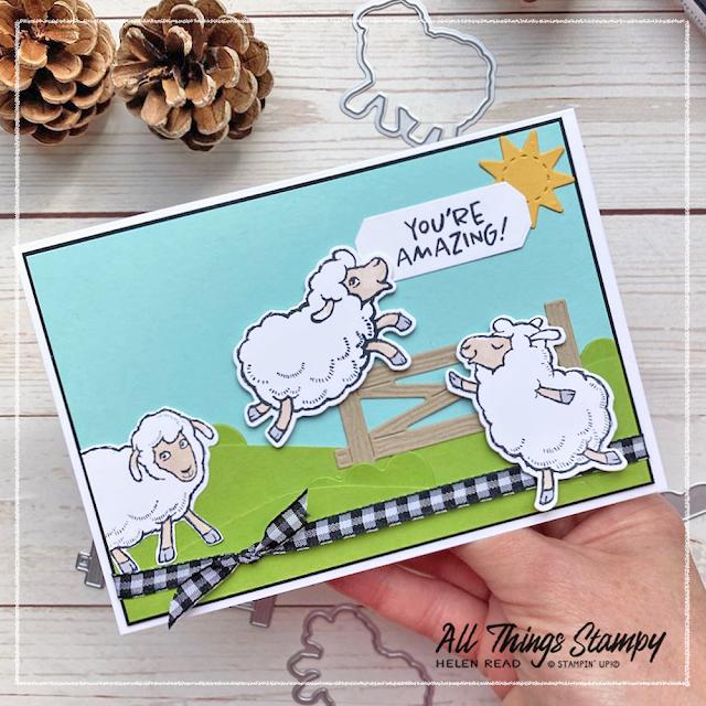Counting Sheep Stampin' Up card idea demonstrator UK