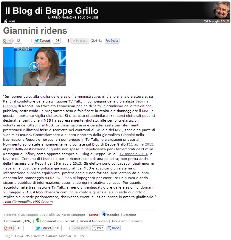 Hanno Finalmente Aboliti I Rimborsi Elettorali: MoVimento 5 Stelle Bari: Maggio 2013