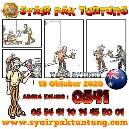 Syair Pak Tuntung Sydney Minggu 18 Oktober 2020
