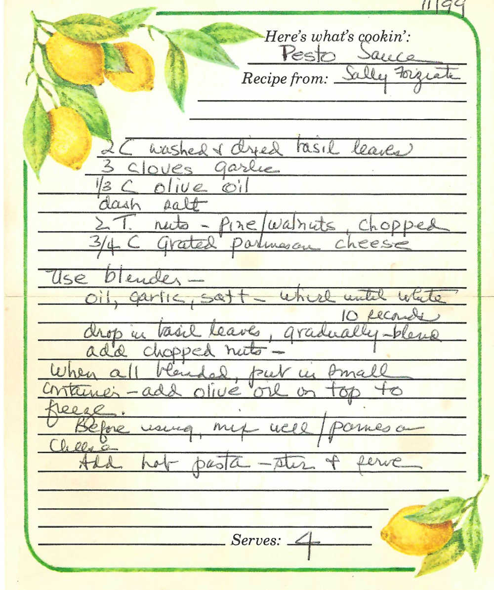family pesto recipe