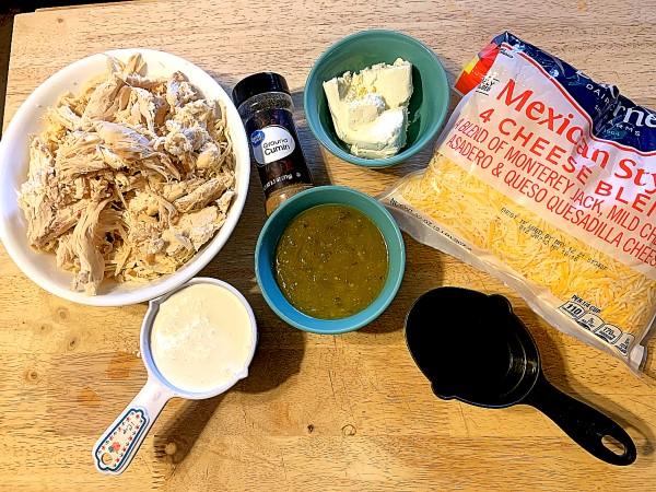 Green Enchilada Soup ingredients