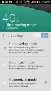 atur mode baterai