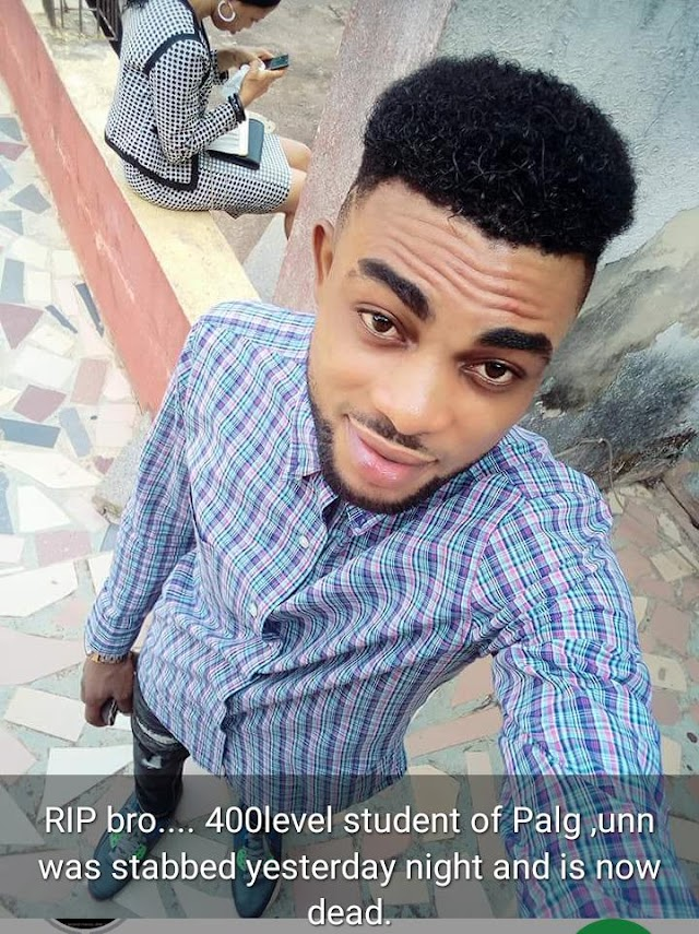 UNIVERSITY OF NIGERIA, NSUKKA FINALIST STABBED TO DEATH.
