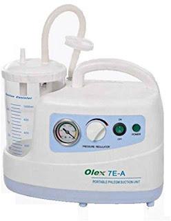 Olex Portable Phlegm Suction Unit with 1000 ml Jar