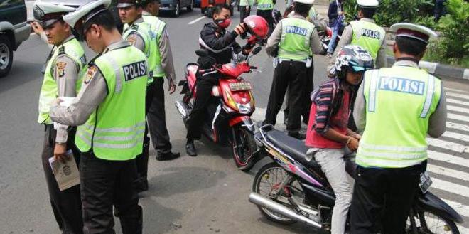 Polisi Hanya Butuh Waktu 3 Jam Untuk Mengamankan Puluhan Kendaraan Bermotor