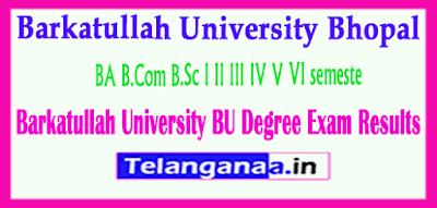 Barkatullah University BU Degree Exam Results