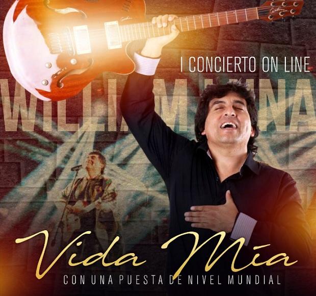 """William Luna presenta """"Vida Mia"""" 1er concierto virtual"""