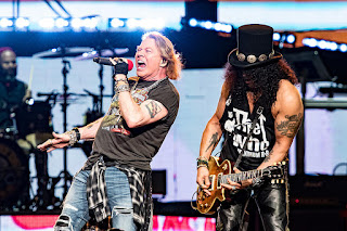Guns N' Roses Axl Rose & Slash 2019. PunkMetalRap.com