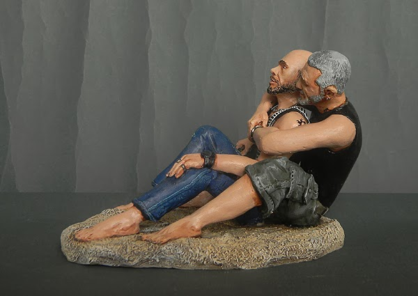 statuette coppia sulla spiaggia statuina personalizzata idea regalo orme magiche