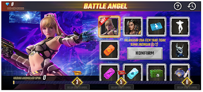 Spin dan dapatkan hadiah utama Bundle Battle Angel di Event Faded Wheel Battle Angel Free Fire FF
