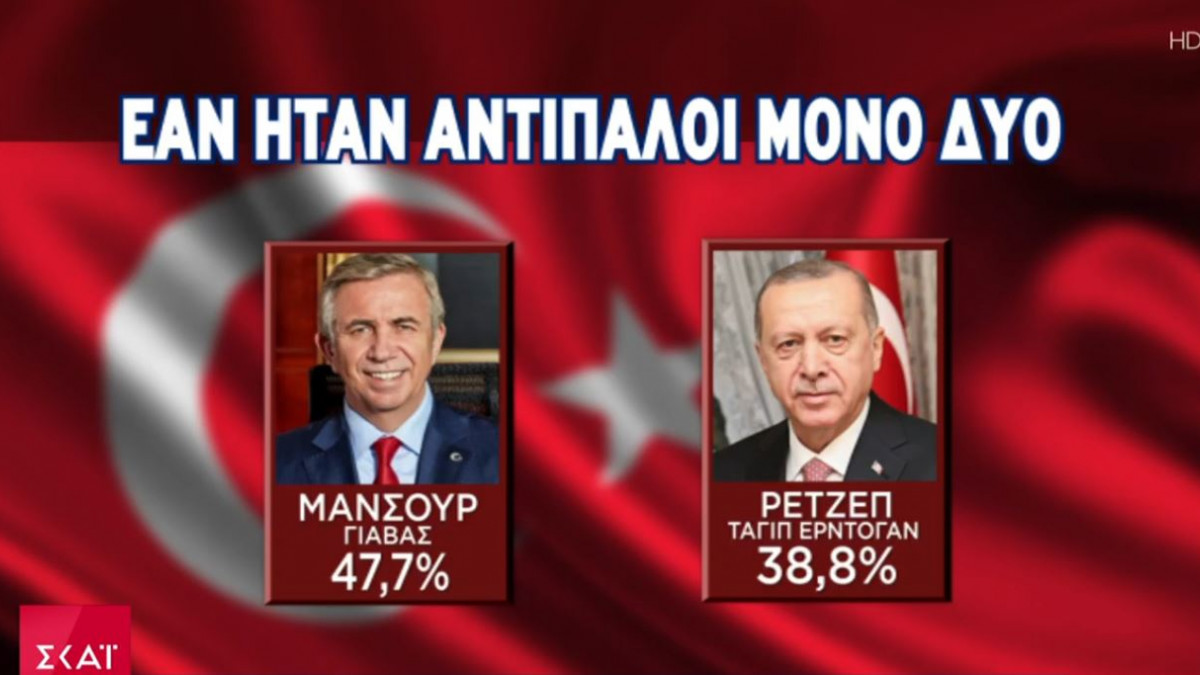 Κόλαφος για τον Ερντογάν νέα δημοσκόπηση: Θα έχανε από τον Δήμαρχο Άγκυρας