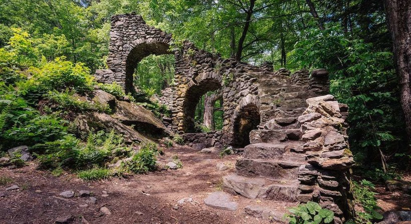 Mysterious staircases in the woods that lead nowhere