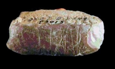 Engraved stone artefact found at Palaeolithic site in northwest China