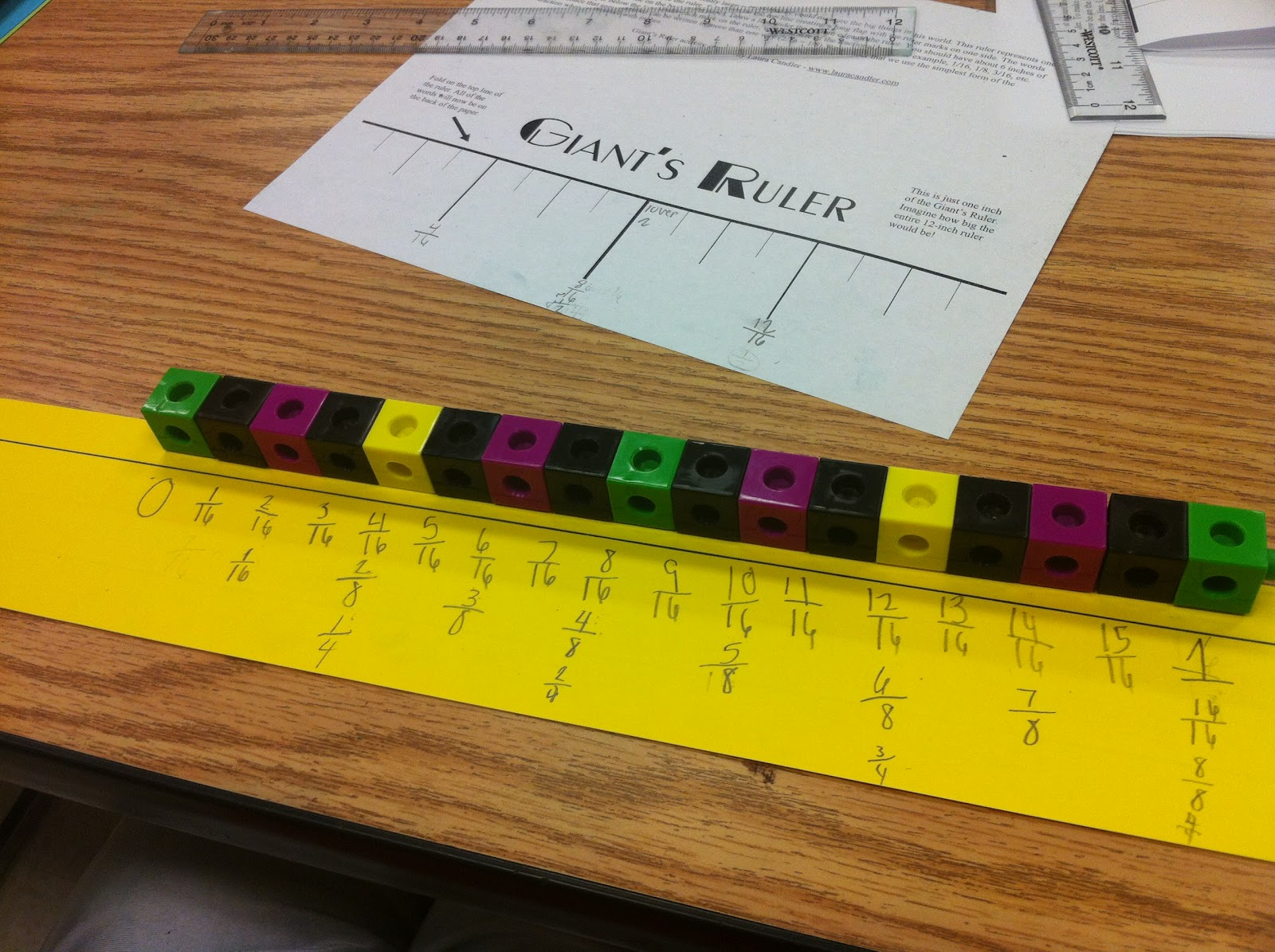 Labeling Fractions On A Ruler Worksheet