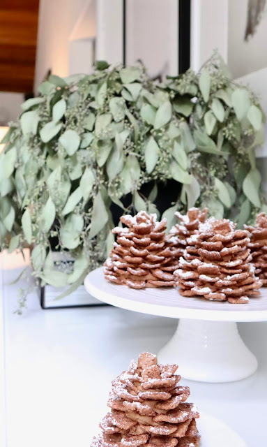 no bake chocolate pinecones