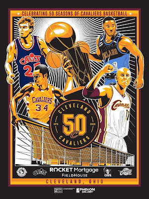 Cleveland Cavaliers 50th Anniversary Season Screen Print by M. Fitz x Phenom Gallery