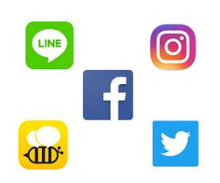 kumpulan ikon sosial media di internet