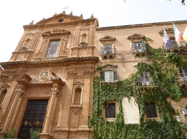 chiesa di san domenico e municipio di agrigento